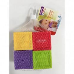 INFANTINO Set de 4 cubes souples sensoriels