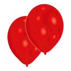 AMSCAN Lot de 10 Ballons en latex Premium 27,5 cm/11'' - Rou