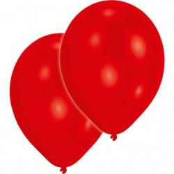 AMSCAN Lot de 10 Ballons en latex 27,5 cm/11'' - Rouge métal