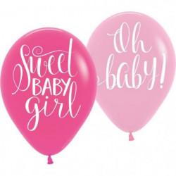 "AMSCAN Lot de 6 Ballons latex Floral Baby 27,5 cm 11"""