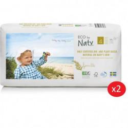 NATY - Lot de 2 paquets de couches Taille 4 Maxi 7-18 kg 44