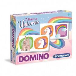 CLEMENTONI Domino - Licornes - Jeu éducatif
