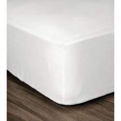 LOVELY HOME Drap Housse 100% coton 140x190x25 cm blanc