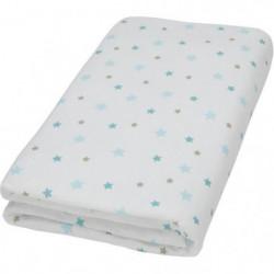DOMIVA Drap-housse - 60x120cm - Blanc imprimé flocon étoiles