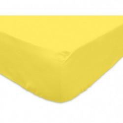 SOLEIL d'OCRE Drap housse 100% Coton 160x200 cm Jaune