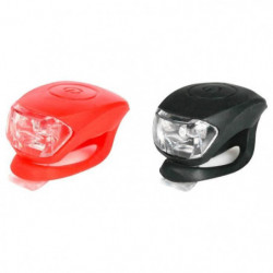 SCRAPPER Lot de 2 éclairage visibilité - Noir et Rouge