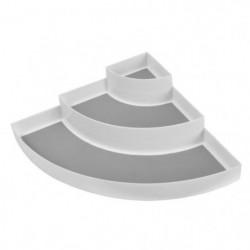 FRANDIS Etagere d'angle 3 étages - L 30 x P 42 x H 9 cm