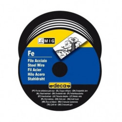 DECA Bobine fil acier pour soudure MIG/MAG Ø fil 0,6 mm 0,7