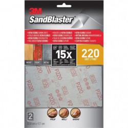 3M SANDBLASTER Lot de 2 Feuilles abrasives - 17,7 x 11,4 cm