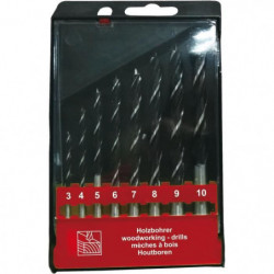TEC HIT Coffret 8 forets a bois de 3 a 10 mm