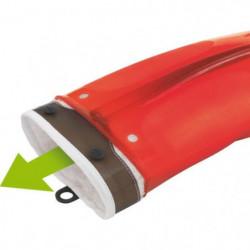 MASTRAD F82315 Gant - Silicone et textile - Rouge transparen