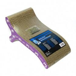Griffoir carton ondulé 46x22x20 cm violet