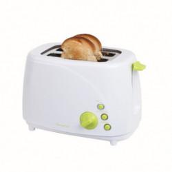 Grille-pain blanc/vert 2 fentes - DOMOCLIP DOD150BV