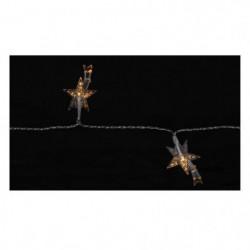 Guirlande de Noël LED extérieure étoiles filantes PVC - 5 m