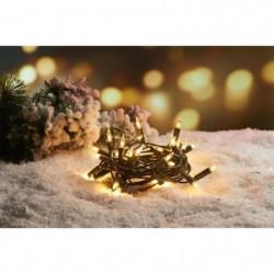 Guirlande de Noël incandescente 50 ampoules - 6,25 m - Blanc