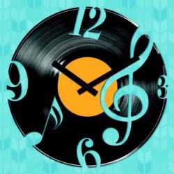 ARTIS Horloge en verre Moment'Art 30 x 30 cm Vinyl music