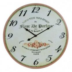 Horloge murale vintage en bois - Ø50 x 2 cm - Motif imprimé