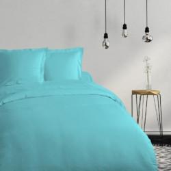 COTE DECO Housse de couette 100% coton 140x200 cm - Bleu tur