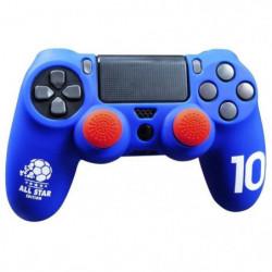 Housse de protection Bleu en silicone pour manette PS4