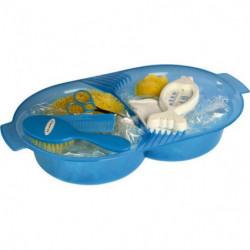 DBB REMOND Set de toilette pour bébé - Bleu translucide