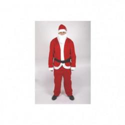Costume Pere Noël adulte en feutrine - Rouge et blanc