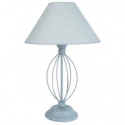 DURANCE Lampe a poser fil acier 30x30x44 cm - Gris bleu céru