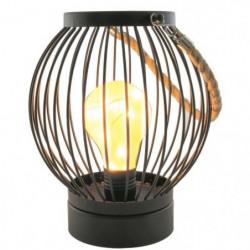 THE HOME DECO LIGHT Lanterne filaire - Ampoule LED Bistrot -