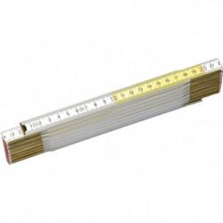 STANLEY Metre pliant 2m x 17mm bois blanc-jaune