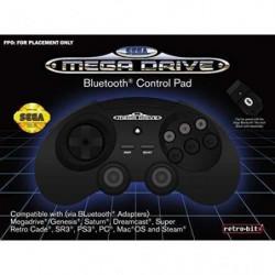 Manette filaire noire Retrobit SEGA Mega Drive Connexion d'o