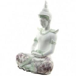 Figurine de décoration méditation - Vernie Blanche