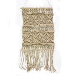 Tissage / Suspension murale Macrame - 45 x 50 cm - Rose nude