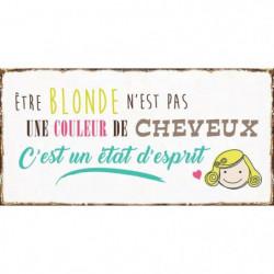 DECO WORD Image contrecollée 20X40 cm Etre blonde