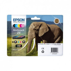 "Epson Cartouche Multipack 24 ""Eléphant"" Claria Pho"