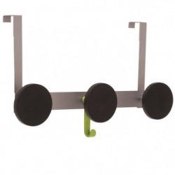 ALBA Triple pateres D9 cm avec crochets de porte - 43,5 x 24