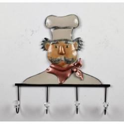 Patere Cuisinier - Métal - L 41 x P 6 x H 43 cm
