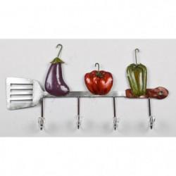 Patere Légumes - Métal - L 55 x P 6 x H 28 cm