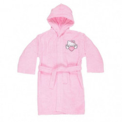 HELLO KITTY Peignoir 100% coton - 6 / 8 ans - Rose