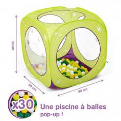 LUDI Aire de jeu cube a balles Papillons + 85 balles offerte
