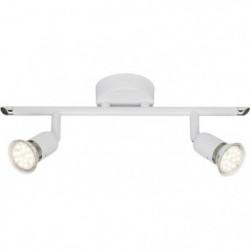 BRILLIANT Plafonnier LED 2 lumieres Loona - Blanc