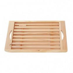 FRANDIS Planche pain + ramasse-miettes en bois pin 39,5x20x3