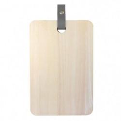 ECO DESIGN A1501 Planche a découper avec laniere cuir 20 x 3