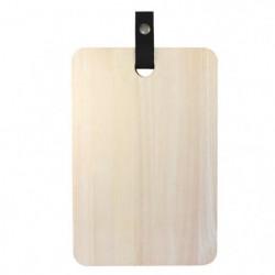 ECO DESIGN A1503 Planche a découper avec laniere cuir 20 x 3
