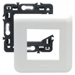 LEGRAND Plaque support fixation a vis 2 modules Mosaic blanc