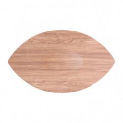 AERTS Plat pour buffet - 56 x 33,5 x 3 cm - Forme feuille