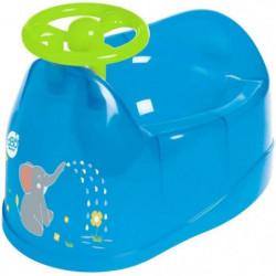 DBB REMOND Pot bébé - Décor éléphant avec volant - Bleu tran