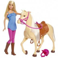 BARBIE - Barbie & son Cheval - Coffret Poupée - Comprend 1 p