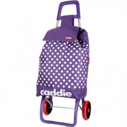 CADDIE Poussette de Marché 2 roues Pied ABS Violet Lindy