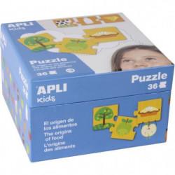 APLI Puzzle 36 pieces l'origine des aliments
