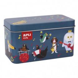 APLI Puzzle de 24 pieces - En boîte métal - Instruments de m