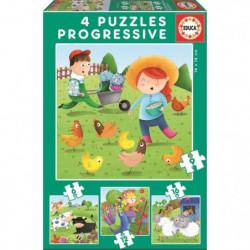 EDUCA - Puzzle Progressif Animaux Ferme